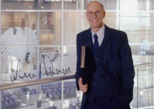 Der PRÄSIDENT des DEUTSCHEN BUNDESTAGES: Prof. Dr. Norbert Lammert (CDU)  Original Autogramm Karte handsigniert !!!
