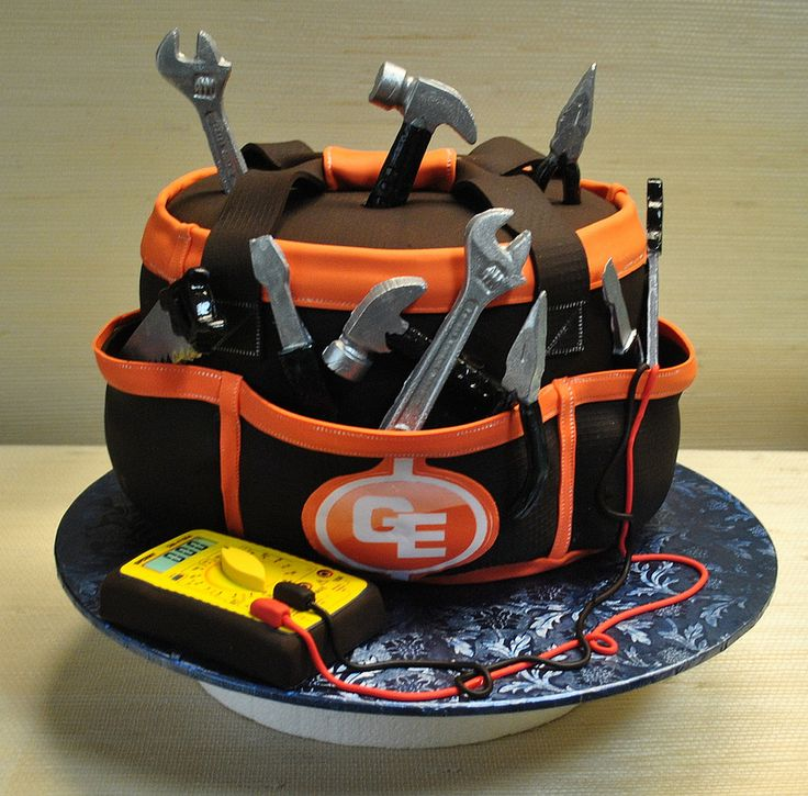 Electrician Tool Bag-anniverssary cake-tools-The cake zone-Tampa-Sarasota-FL