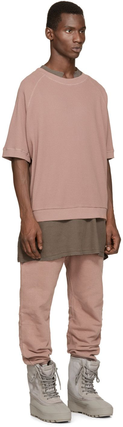 YEEZY Season 1 Rose Waffle Cotton Thermal T-Shirt