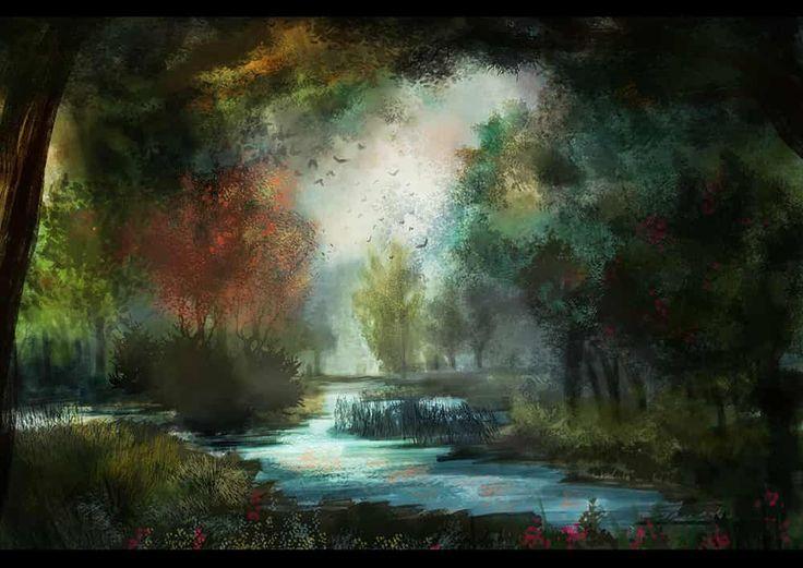 夏と秋を混在させたような風景のつもりです