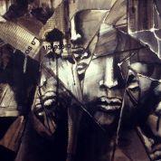Tableau contemporain abstrait : Upside Art, Miroir Brisé par Fatma Yacoubi ( Peinture  )