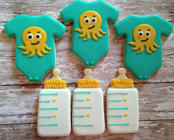 Baby Boy Cookies by SweetCBakeShop on Etsy, $38.00