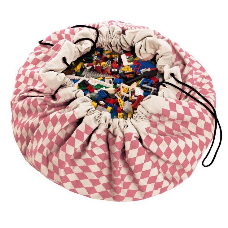 Super!!!sac de rangement, le rêve, pour ranger tout les jouets ...2 en un il se double en tapis de jeu ...