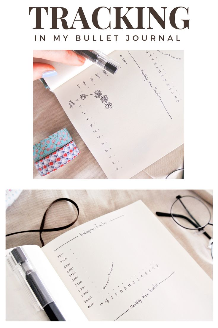 Cute little tracker ideas for your bullet journal!  Doodle graphs and stats for blogging, project progress, income, social media stats... keep it simple, functional and motivating!