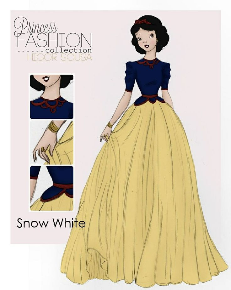 Disney Princess fashion. Snow White For Apple. But she wouldn't go for it.