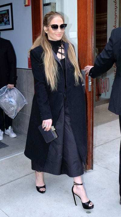 Jennifer Lopez in Cuhnie Et Ochs out in NYC. #bestdressed