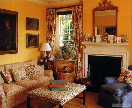 English Sitting Room Country DecorCottage