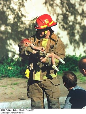 1995 Oklahoma City Bombing    I met this baby's mother when I was in OKC.  I wanted to hug her and hold her but she did not know me so I did not want to intrude.  She introduced herself to me.  It was a very touching moment for me.