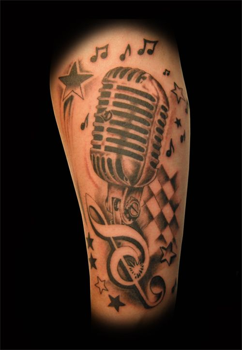 oldschool microphone tattoo designs - Google Search