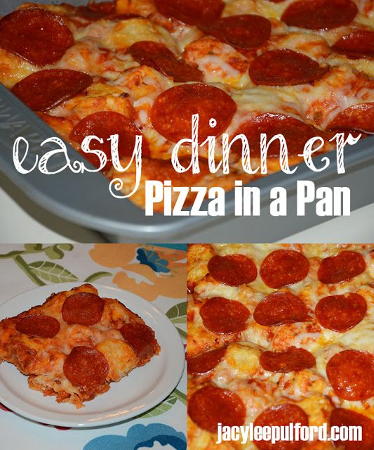 Easy Dinner Recipe: Pizza in a Pan #dinner #recipe #pizza