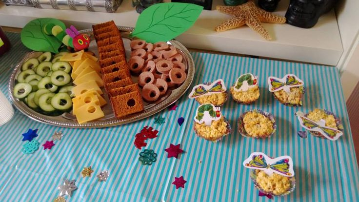 Hungry Caterpillar themed party for my son. I made the same platter as a treat for his day care center and on both occasions it was a huge succes. :-)