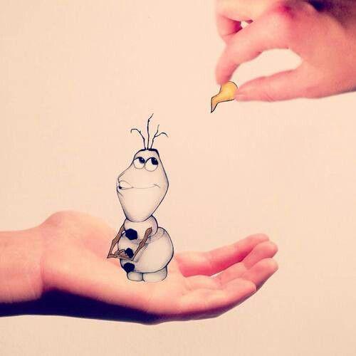Cool Olaf drawing