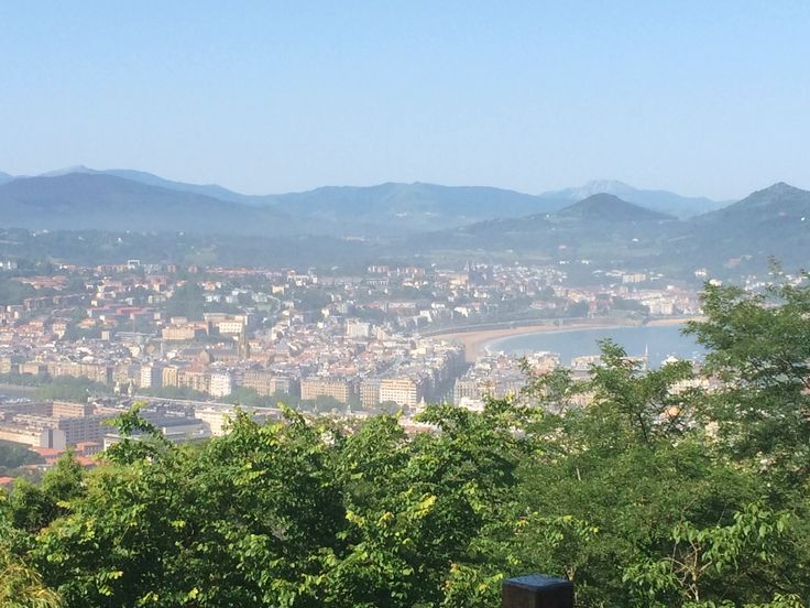 View from youth hostal close to San Sebastian. Perfect place to stay. Better than youth hostal in San Sebastian.