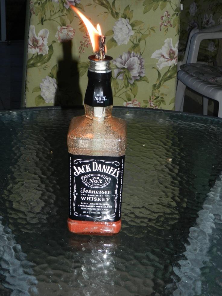 Liquor bottle tiki torch diy crafts pinterest for Diy beer bottle tiki torches