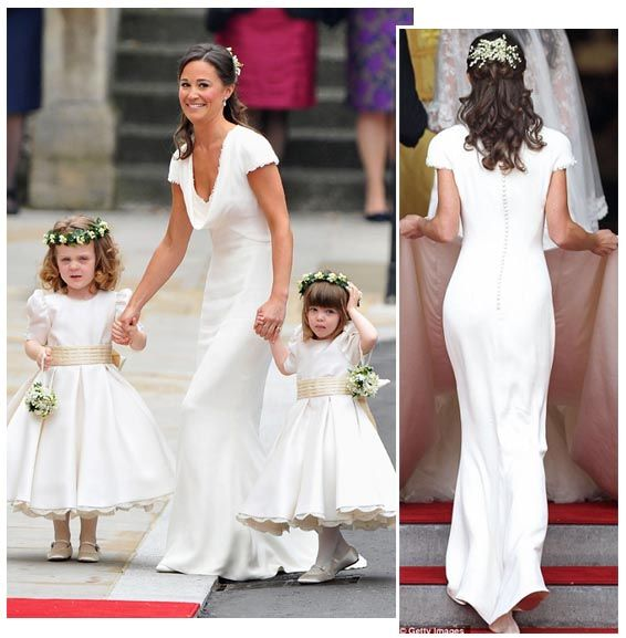 Pippa Sets a Trend – White Bridesmaid's Dresses