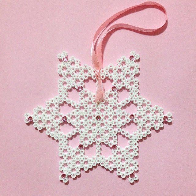 Star ornament hama perler beads by coriander_dk
