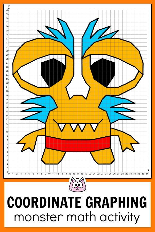 Practice Plotting Ordered Pairs With These Fun And Engaging Monsters Diffe Coordinate Graphing Coordinate Graphing Pictures Coordinate Graphing Mystery Picture