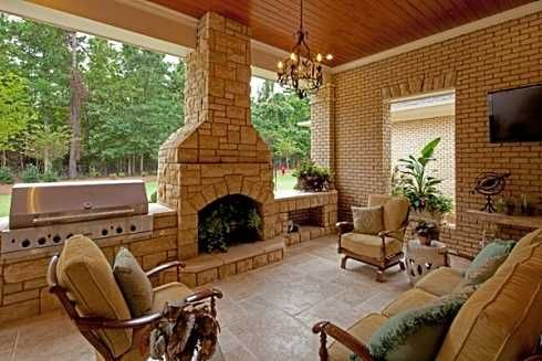 Back+Porch+Patio+Designs | Covered Patio Designs For Outdoor Fireplaces...Undercover Enjoyment!