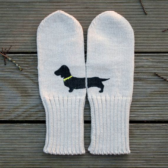 Perfect for keeping your hands warm as you walk your dachshund. @Kate Mazur Walton