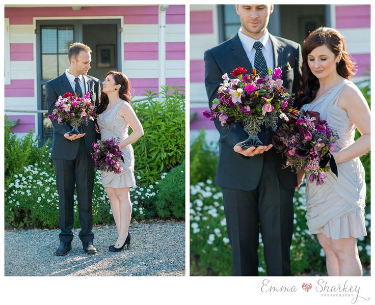 Emma Sharkey Photography_0028  Amazing wedding flowers by Sarah Craker Weddings Vibrant unique wedding bouquets and table centrepieces. Wedding flowers with a twist, Lots of colour, deep purples and reds  Wedding Photography Bespoke Wedding Ideas Emma Sharkey Photography Middleton Beach Huts CL Weddings and Events