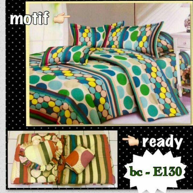 1 set Bedcover evelyn terdiri dari :1 bedcover/selimut1 sprei uk. 180x200x202 sarung bantal2 sarung gulingterdapat karet disetiap sudut spreibonus bantal hati...