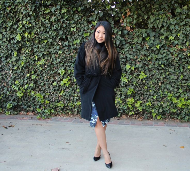 Black Wrap Coat. Today's church outfit | sunday best | modest church outfit | church outfit | lds | mormon |
