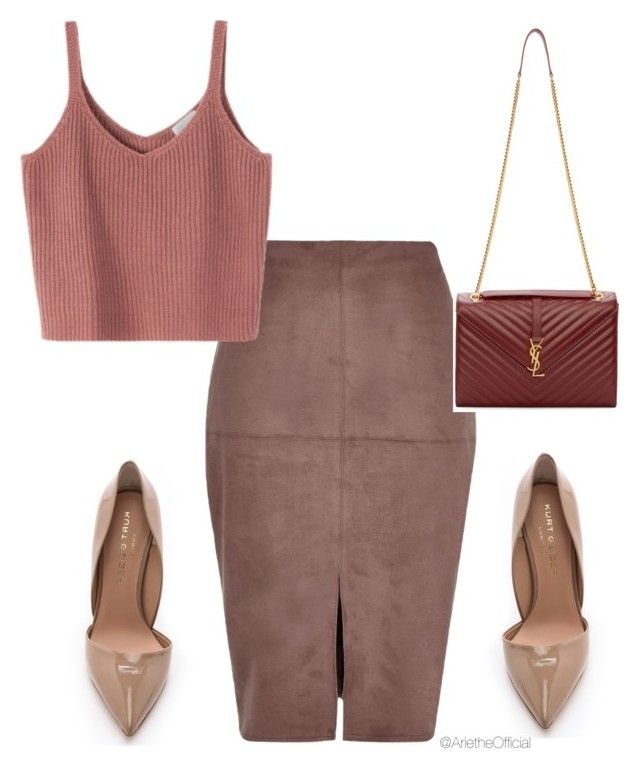 """""""Untitled #35"""" by arietheofficial ❤ liked on Polyvore featuring River Island, Kurt Geiger and Yves Saint Laurent"""