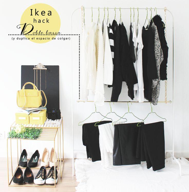 M s de 25 ideas incre bles sobre barra de colgar para ropa - Ikea perchas ropa ...