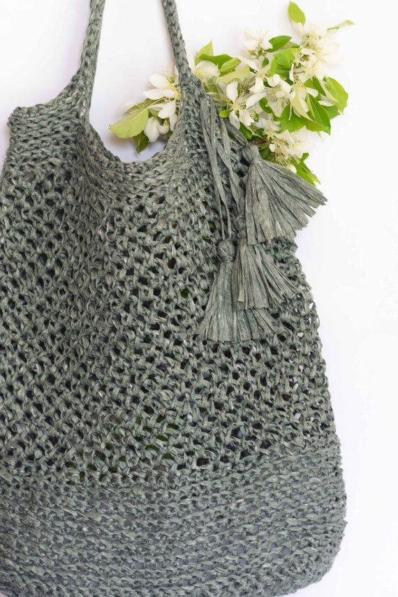 Crocheted Market Tote Pattern Easy Bag Pattern Palmetto