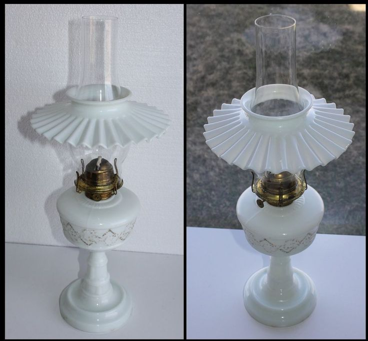 630 best milk glass oil lamps images on pinterest milk glass antique beaded milk glass acanthus leaf oil kerosene lamp w petticoat shade mozeypictures Image collections