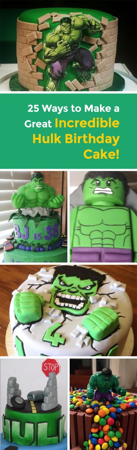 Marvel super heroes are hugely popular right now and so are the themed birthday parties to go with them! If your little one is a big Hulk fan and you're not quite sure how to make a suitable cake, then we've got you covered with 25 great ideas!