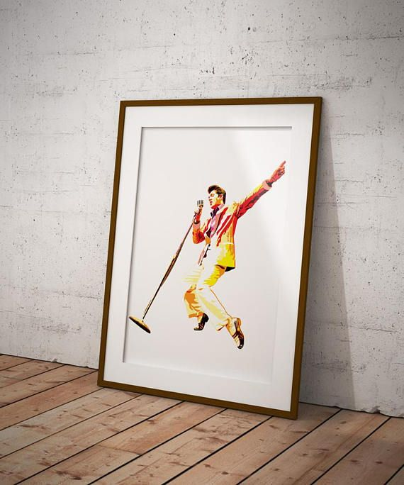 Elvis Vector Illustration Print