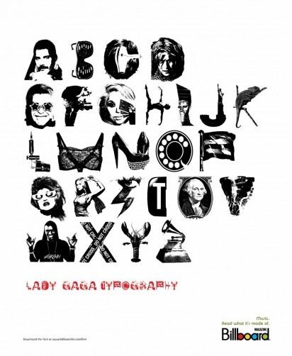 Lady Gaga Typography