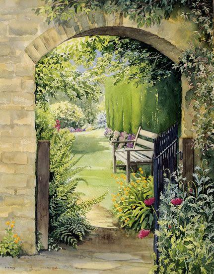 Best 25 garden mural ideas on pinterest hippie garden for English garden wall mural