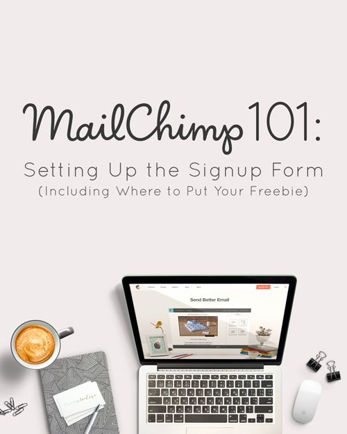 Mailchimp 101: Setting Up the Signup Form (Including where to Put Your Freebie) | Think Creative