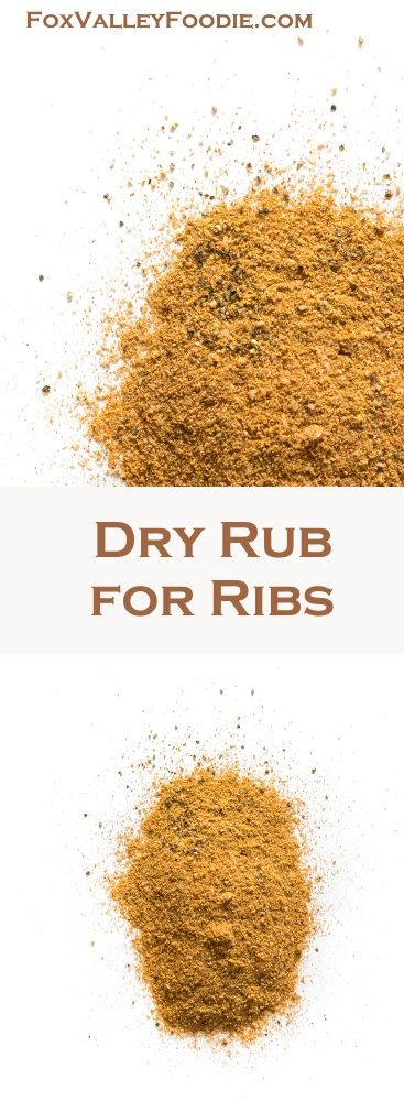 Dry rub for ribs, Dry rubs and Ribs on Pinterest