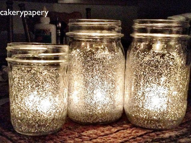 375 best images about mason jar wedding on pinterest for Diy candle jar decorations