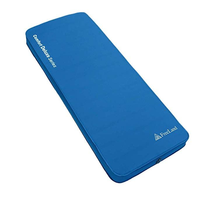 Freeland 3d Self Inflating Camping Sleeping Pad With 4 Inches Thickness For Travel Car Camping And Tent Blue Color Review In 2020 Camping Sleeping Pad Sleeping Pads Camping Pad