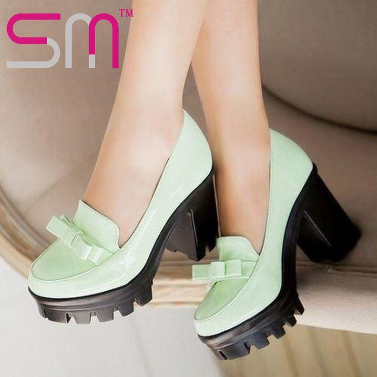 2015 high spike heels pumps skidproof summer pumps elegant bowtie wedding thick heels platform party pumps fashion shoes alishoppbrasil