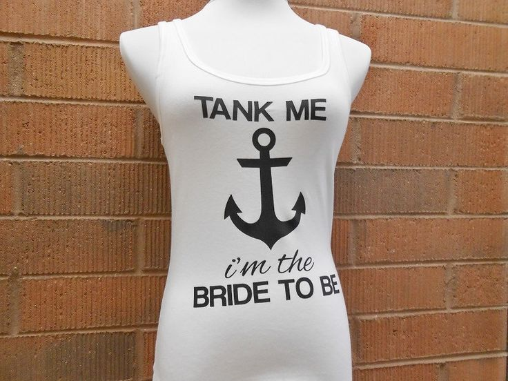 Bachelorette Party Nautical Tank Tops. Help us tank by BrideBikini, $16.00