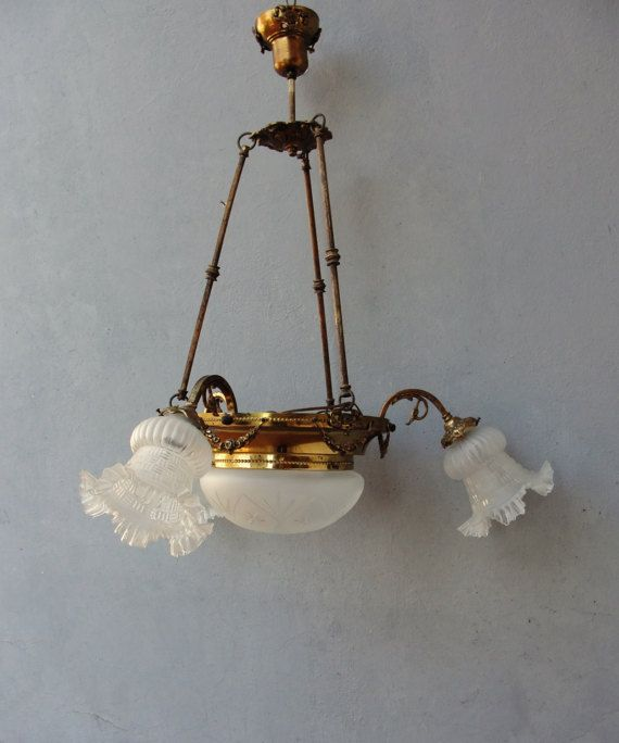 Vintage Pan Chandelier Brass Ceiling Light Chandelier Light