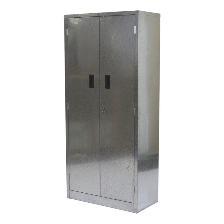 Qiq Fix Galvanised Metal Two Door Garage Cabinet