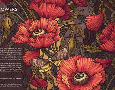 A editorial spread for the 14th issue of Potshot magazine, for a short story called, 'Through the Flowers.'