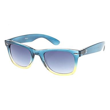 Oreka lente azul escuro graduais Óculos vintage azul e amarelo do quadro – BRL R$ 17,16