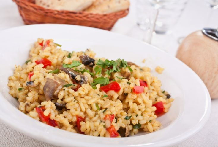 Talianske hubov? rizoto s paprikou