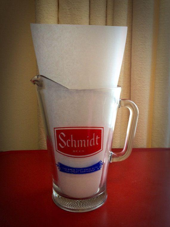 Schmidt Beer Glass Pitcher - Vintage on Etsy, $15.00