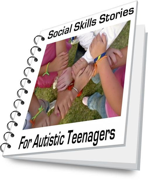 Helping children and teenagers with autism overcome social deficits - I am seriously considering purchasing all of these books for a total of $35 just to help my child practice. :/