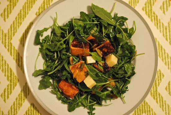 Roasted Butternut Squash Salad with Pecorino & Pepitas - cookingcara ...