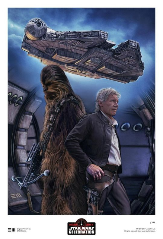 The Star Wars Celebration Art Exhibition once again showcases the 'Star Wars' inspired art work of artists from around the globe.    They will be available as limited edition prints during Star Wars Celebration weekend in Orlando at the Orange County Convention Center, April 13-16.