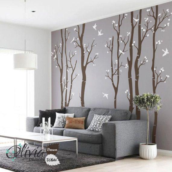 17 mejores ideas sobre la pared del rbol en pinterest - Arboles decoracion interior ...